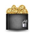 bitcoin full wallet black color vector image vector image