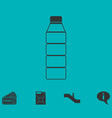 bottle icon flat vector image
