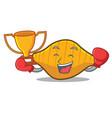 Boxing winner conchiglie pasta mascot cartoon