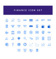 business and finance icon set with colorful vector image
