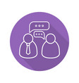 business meeting flat linear long shadow icon vector image vector image