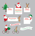 christmas characters show blank signs set vector image