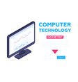computer technology banner - modern vector image vector image