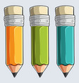 crayons - three colored pencil set vector image