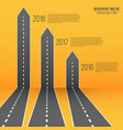 creative of 3d arrow roads map vector image vector image
