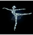 Diamond Ballet Dancer vector image