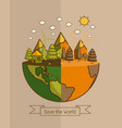 different of world vector image