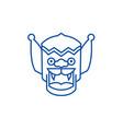 dragonchina line icon concept dragonchina flat vector image vector image