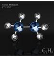 Ethane Molecule Image vector image vector image