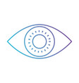 eye icon in color gradient silhouette from purple vector image vector image