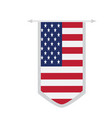 flag of the united states on a banner vector image vector image