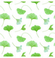 floral seamless pattern with japanese gingko vector image vector image