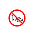 forbidden fishing icon can be used for web logo vector image vector image