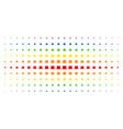gentleman hat spectral halftone matrix vector image vector image