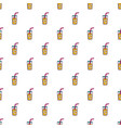 glass of coctail with straw pattern vector image vector image