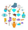 godsend icons set cartoon style vector image vector image