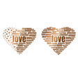 golden heart made up of words and stars vector image vector image