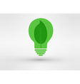 green tree growing in a bulb go green concept vector image vector image