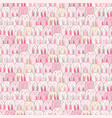 hand drawn cute bunny pattern background vector image vector image