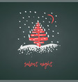 hand-drawn festive christmas and new year card vector image vector image