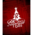 Hi-tech greeting new year card vector image vector image