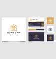 home law firm logo design vector image