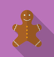Icon of Christmas Gingerbread Flat style vector image vector image