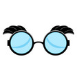 isolated funny glasses vector image