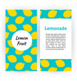 lemon fruit flyer vector image