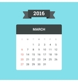 March 2016 Calendar vector image vector image