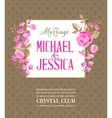 Marriage party invitation vector image vector image