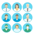 Medical clinic staff flat avatars vector image vector image