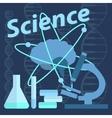Microbiology petri dishes atom brain vector image