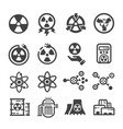 nuclear energy icon vector image vector image