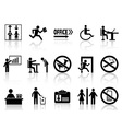 office sign icons set vector image