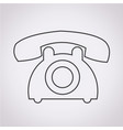 old phone icon vector image vector image