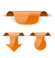 orange set of stickers 3d labels with transparent vector image