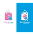 package and click logo combination Shop vector image