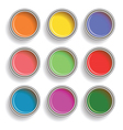 paint cans vector image