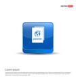 passport icon - 3d blue button vector image