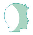 profile silhouette head man male avatar vector image vector image