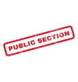 Public Section Rubber Stamp vector image vector image