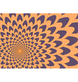 Purple and orange flower Background vector image vector image