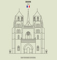 saint benignus cathedral of dijon vector image vector image