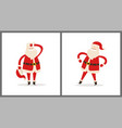 santa clauses set tired father christmas icons vector image vector image
