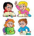 school pupils theme image 2 vector image vector image