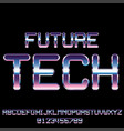 sci-fi retro font vector image vector image