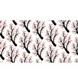 seamless pattern with abstract heart tree vector image vector image