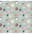 Seamless pattern with circles and lines vector image