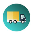 Shipping and delivery halftone circle icon vector image vector image